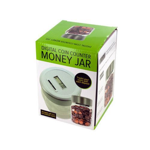 Digital Coin Counter Money Jar ( Case of 4 )