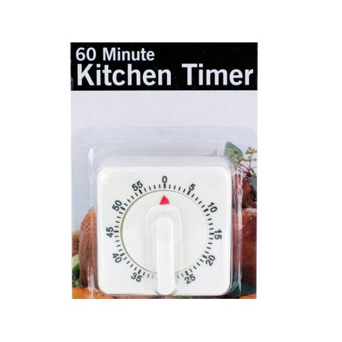 60 Minute Manual Dial Kitchen Timer ( Case of 6 )