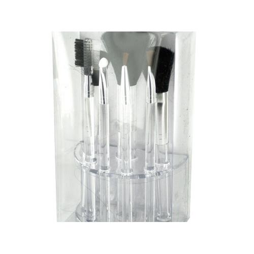 Clear Cosmetic Brush Set in Organizer ( Case of 8 )