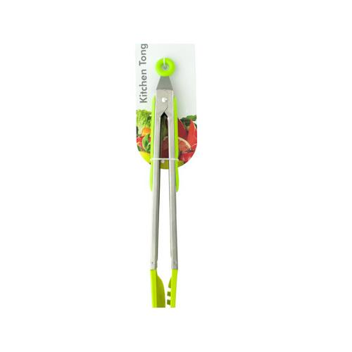Green Nylon-Tipped Metal Serving Tongs ( Case of 16 )