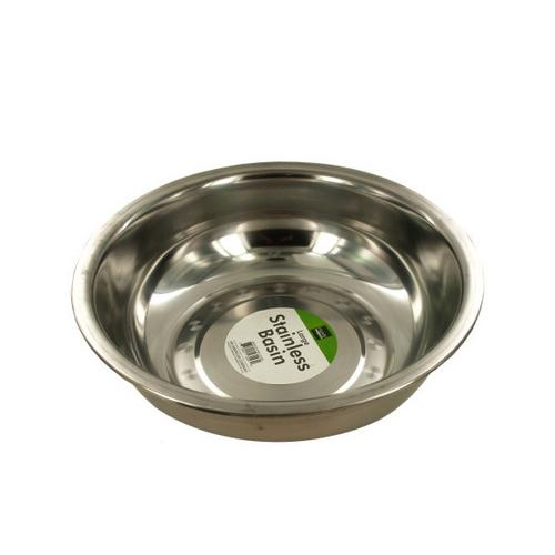Large Stainless Metal Basin ( Case of 12 )