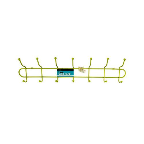 7 Hook Metal Wall Rack ( Case of 16 )