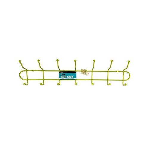 7 Hook Metal Wall Rack ( Case of 8 )