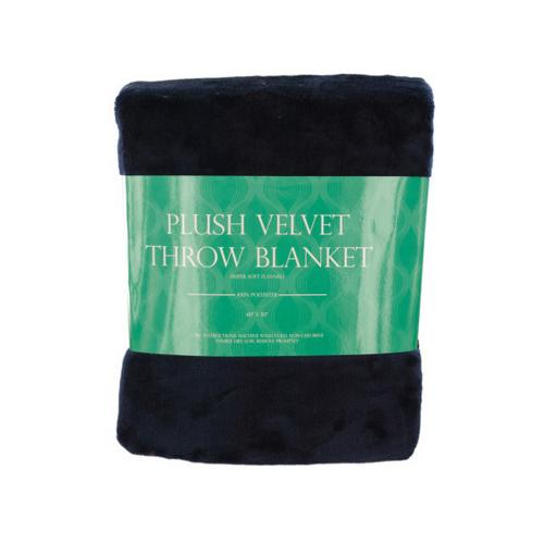 Super Soft Plush Velvet Fleece Throw Blanket ( Case of 1 )