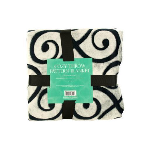 Cozy Cutting Flannel Fleece Throw Blanket ( Case of 1 )
