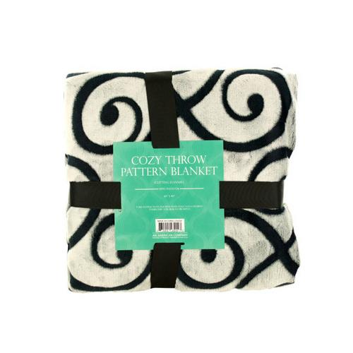Cozy Cutting Flannel Fleece Throw Blanket ( Case of 2 )
