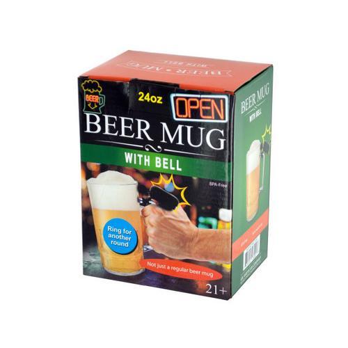 24 oz Novelty Beer Mug with Bell ( Case of 4 )