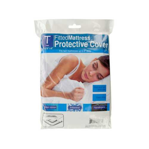 Twin Size Protective Mattress Cover ( Case of 10 )