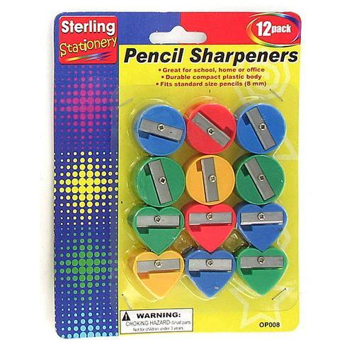 Fun Shape Pencil Sharpeners ( Case of 72 )
