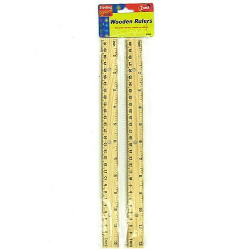 Wooden Ruler Set ( Case of 24 )