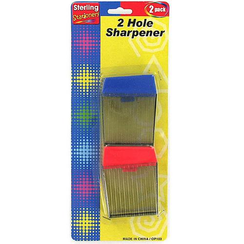 Two-Hole Pencil Sharpener Set ( Case of 24 )