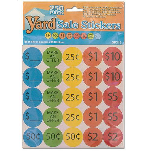 Yard Sale Pricing Stickers ( Case of 48 )