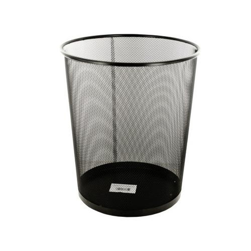 Black Metal Mesh Waste Container ( Case of 4 )