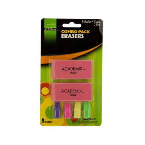 Combo Pack Eraser Set ( Case of 72 )