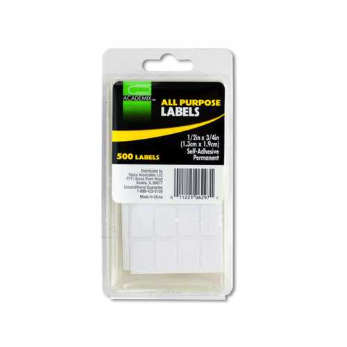All Purpose Self-Adhesive Labels ( Case of 72 )