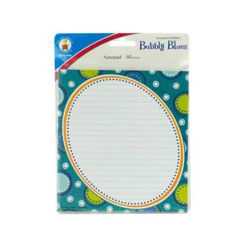 Bubbly Blues Notepad ( Case of 72 )