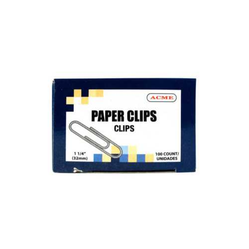 "125"" Paper Clips 100 Count ( Case of 60 )"