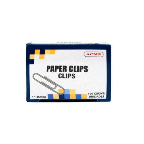 "1"" Paper Clips 100 Count ( Case of 90 )"