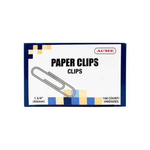"175"" Paper Clips 100 Count ( Case of 25 )"