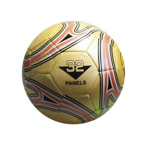 size 5 gold soccer ball with swirl design ( Case of 4 )