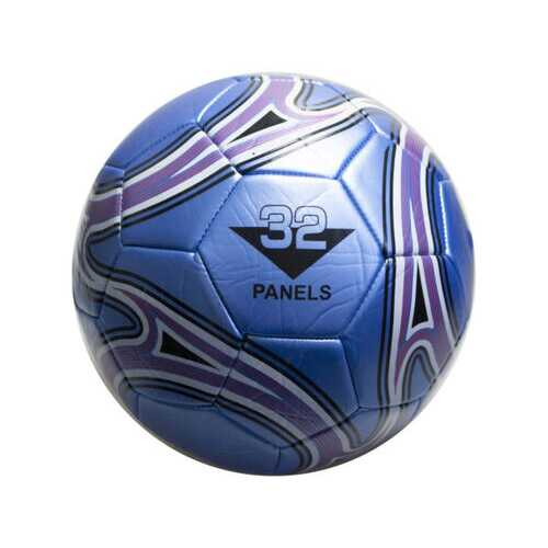 size 5 blue soccer ball with swirl design ( Case of 2 )