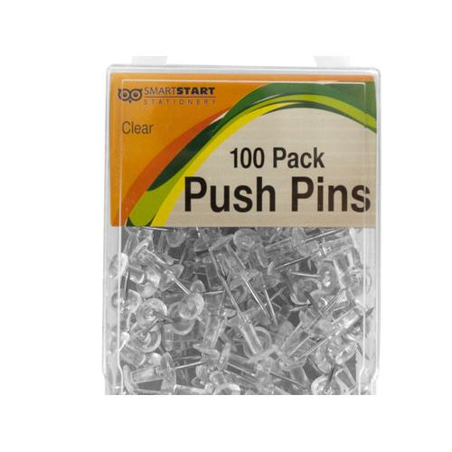 Clear Push Pins ( Case of 24 )