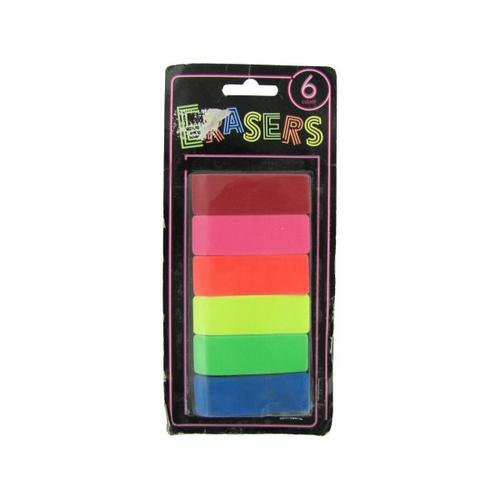 Neon Erasers ( Case of 24 )