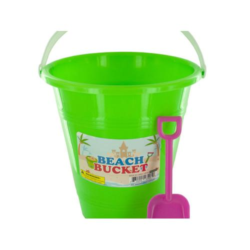 Beach Bucket with Attached Shovel ( Case of 24 )