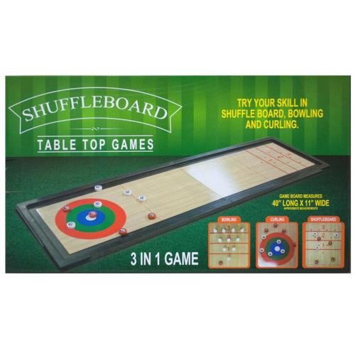 3 In 1 Shuffleboard Tabletop Game ( Case of 2 )
