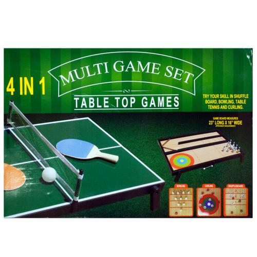 4 in 1 Tabletop Multi-Game Set ( Case of 1 )