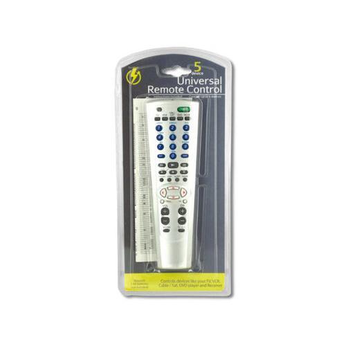5 Device Universal Remote Control ( Case of 8 )