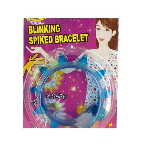 Flashing Light-Up Spiked Bracelet ( Case of 24 )