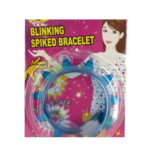 Blinking Light-Up Spiked Bracelet ( Case of 48 )