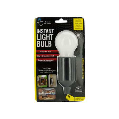 Instant LED Light Bulb with Pull Cord ( Case of 6 )
