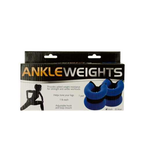 1 Pound Adjustable Ankle Weights ( Case of 12 )