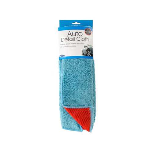 2 in 1 Absorbent Microfiber Auto Detail Cloth ( Case of 12 )