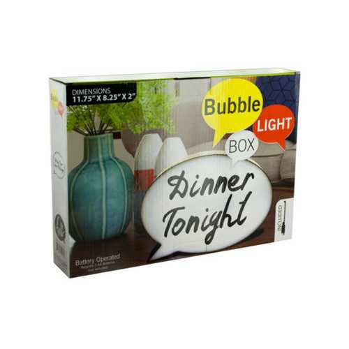 Bubble Light Box Message Board with Marker ( Case of 4 )