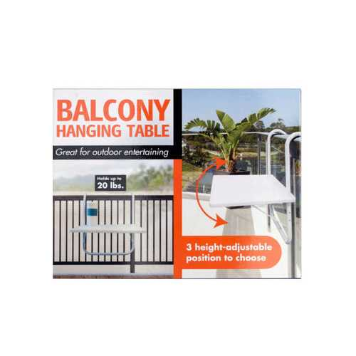 All-Purpose Balcony Hanging Table ( Case of 1 )