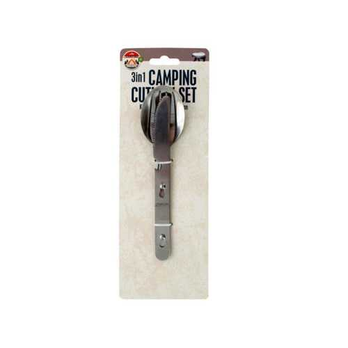 3 in 1 Camping Cutlery Set with Bottle Opener ( Case of 12 )