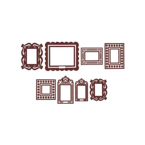 Brown Stickr Peel & Stick Wall Frames Kit ( Case of 8 )