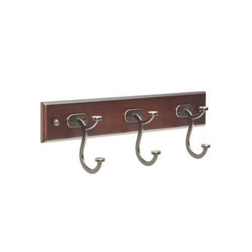 Liberty Contempo Espresso & Bronze Pilltop Hook Rail ( Case of 2 )