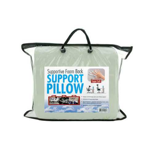 Supportive Foam Back Support Pillow ( Case of 2 )