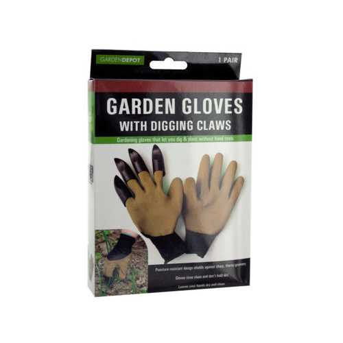 Garden Gloves with Digging Claws ( Case of 6 )