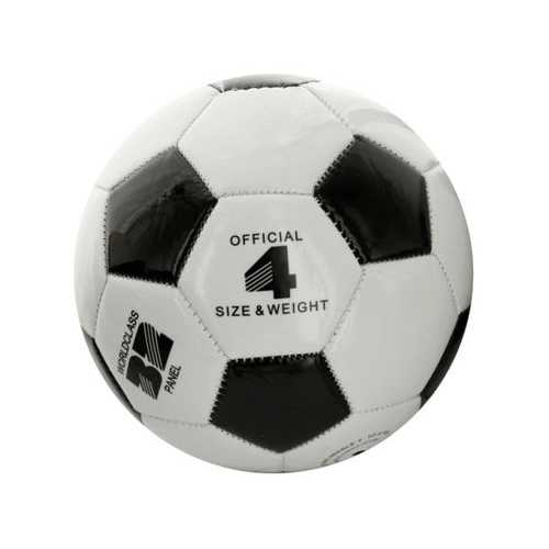 Size 4 Black & White Glossy Soccer Ball ( Case of 4 )