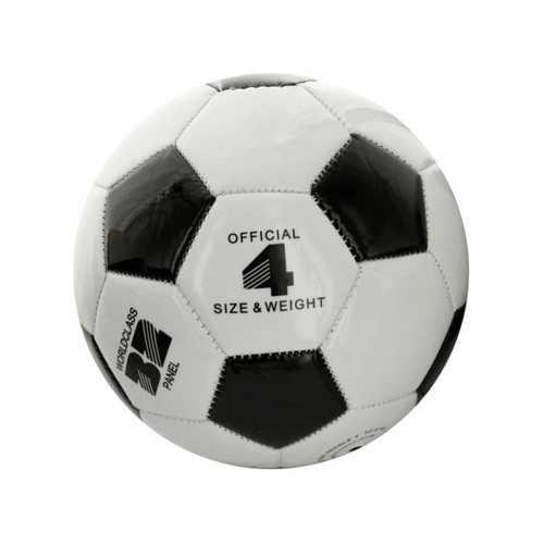Size 4 Black & White Glossy Soccer Ball ( Case of 6 )