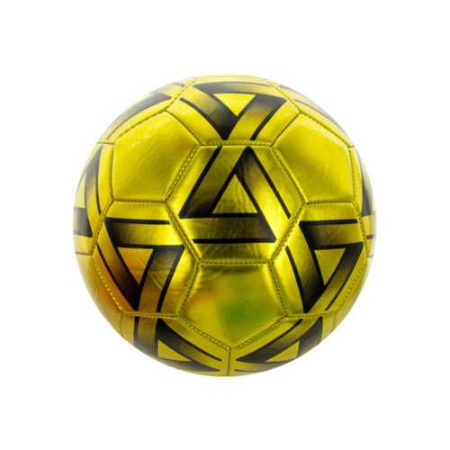 Size 5 Metallic Gold & Black Soccer Ball ( Case of 2 )