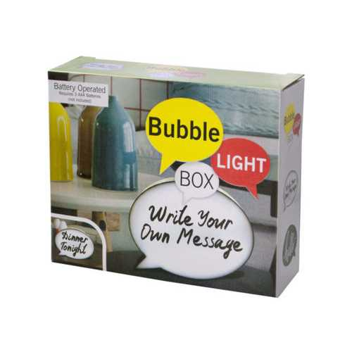 Mini Bubble Light Box Message Board with Markers ( Case of 12 )
