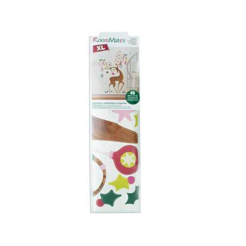 Ornamental Reindeer Giant Peel & Stick Wall Decals Set ( Case of 4 )