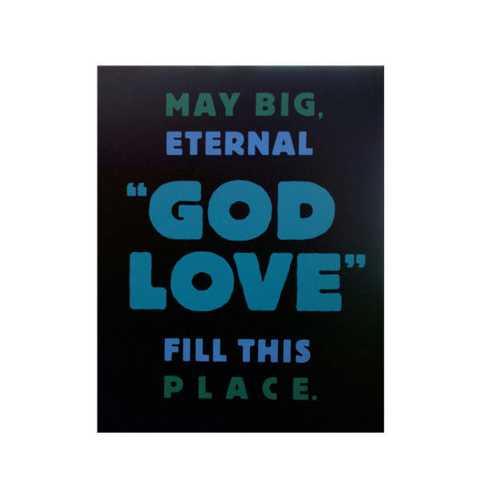 God Love Box Print Wall Art ( Case of 4 )