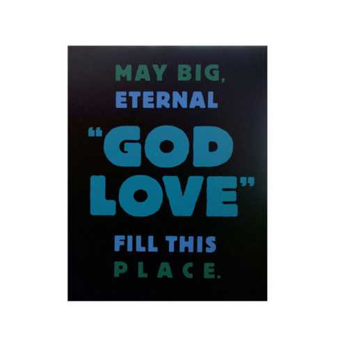 God Love Box Print Wall Art ( Case of 6 )